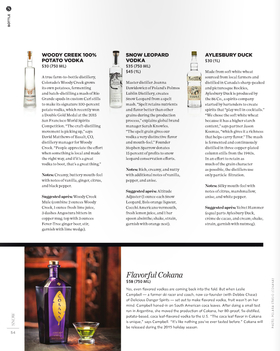 Snow country vodka tasting notes article