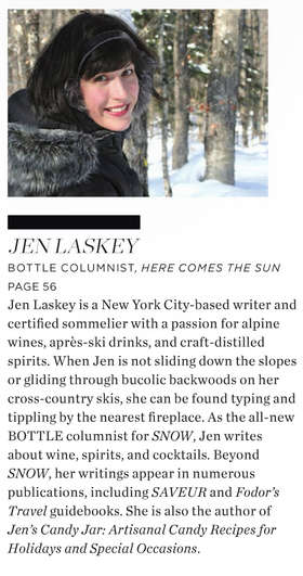 Bottle columnist jen laskey   snow magazine article