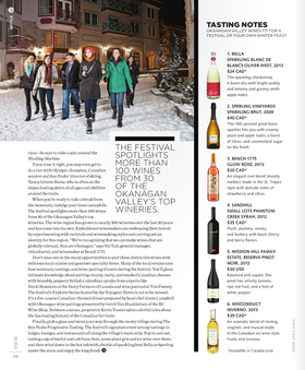 Ok valley wine tasting notes   snow magazine article
