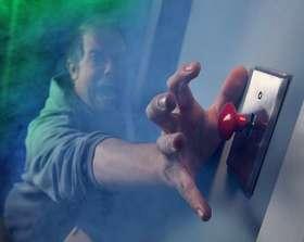 Panic button light switch article