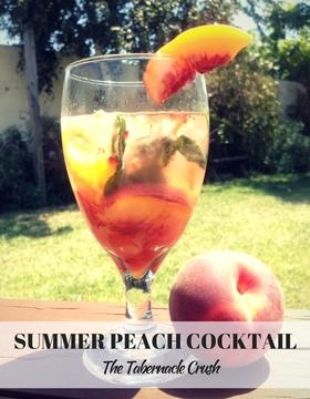 Fresh peach cocktail article