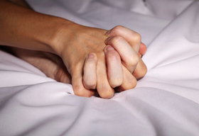 Hands clasped article