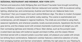 Fodors seasonal restaurant and weinbar article
