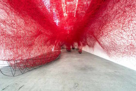 Chiharu shiota  uncertain journey  2016  installation  view  courtesy the artist and blainsouthern  photo christian glaeser article