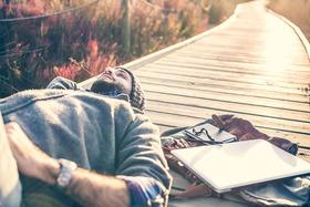 Man relaxing article