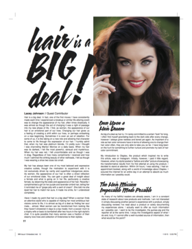 Mirabella magazine   hair is a big deal   lacey johnson article