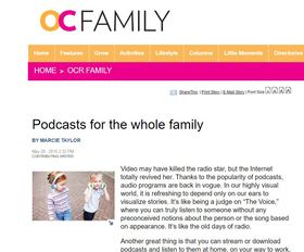 Podcasts for the family article
