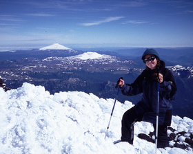 Constanza ceruti on the summit of volcano in patagonia %28copyright constanza ceruti%29 article
