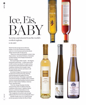Snow bottle ice wine 1 article