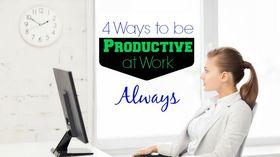 Clock business woman desk office computer productive pm article