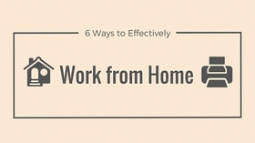 Effectively work from home article