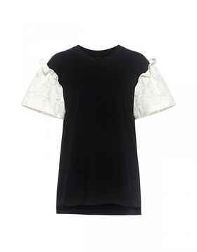 Rex floral lace sleeve t shirt  mother of pearl 600x768 article