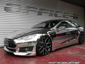Aftermarket bodykit brings a touch of chrome to the office k model s  with 22 inch forgiato wheels article
