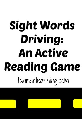 Sight word driving article