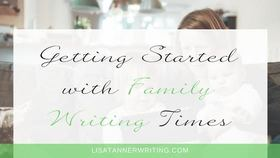 Family writing time article