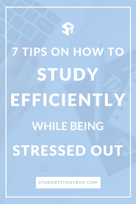 Study efficiently while being stressed out article