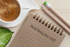 Note pad food goals article