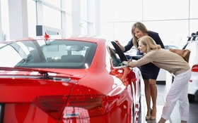 Saleswoman and woman looking at car in showroom   alamy large trans nvbqzqnjv4bqzgekzx3m936n5bqk4va8rwtt0gk 6efzt336f62ei5u article