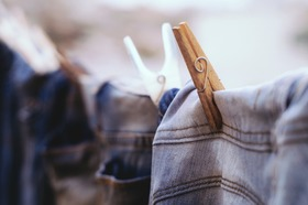 Denim husband laundry article