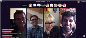 Blab group video chat example article