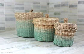 Ikea hack ljusnan painted baskets article