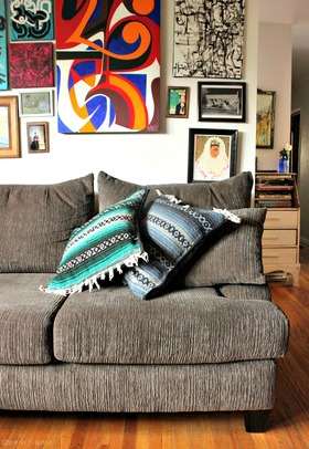 Diy mexican serape pillows article