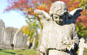 Cropped angel statue graveyard cemetry istock article