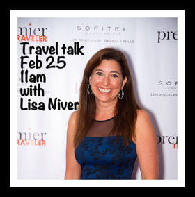 Lisa at sofitel premier travel event article