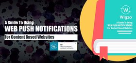Web push notifications content article