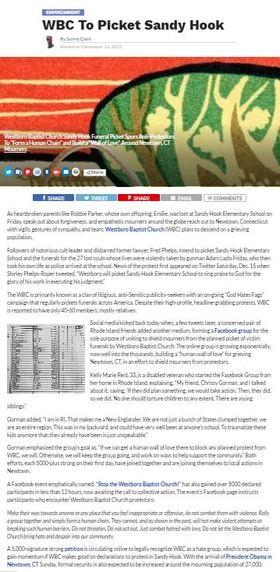 Westboro baptist sandy hook sunny clark article
