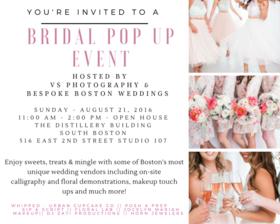 Boston bridal pop up article