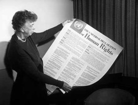 Eleanor roosevelt and human rights declaration article