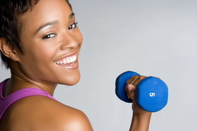 Woman resistance training istock article