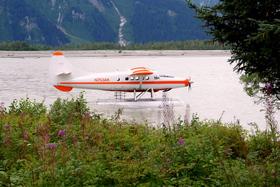 14. seaplane at taku glacier lodge article