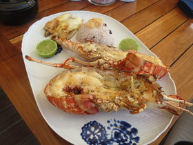 Barbuda belle grilled  spiny lobster credit melanie reffes article