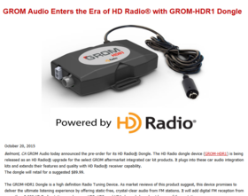 Grom audio enters the era of hd radio%ef%bf%bd with grom hdr1 dongle article