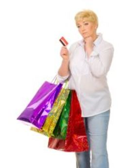 Credit card shopping woman unhappy bigst article