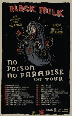 Black milk north american tour no poison no paradise tour article