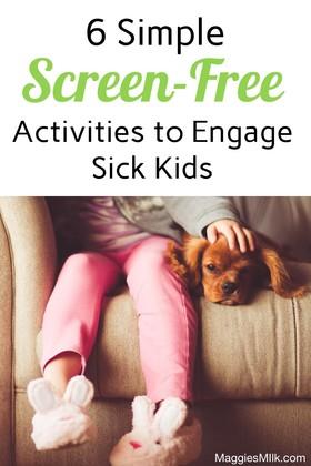 Screen free sick kids article