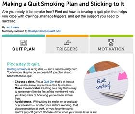 Eh quit smoking plan article