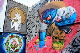 Graffiti park work on right by real3 photo christina newberry article