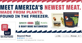 Beyond meat on facebook article