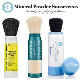 Mineral powder sunscreen article