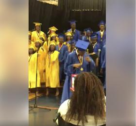 Black graduates video screenshot article