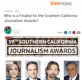 Sheknows southern calif journalist awards article