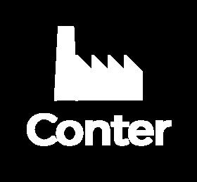 Conter logo white article
