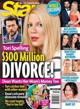 Star magazine tori spelling divorce article