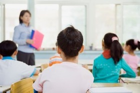Kids in classroom article