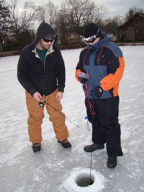 Ice fishing article