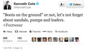 Kenneth cole syria tweet article